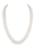 10-11mm White Freshwater Pearl Necklace - AAA Quality
