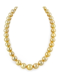 10-12mm Golden South Sea Pearl Necklace