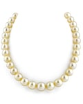 10-12mm Champagne Golden South Sea Pearl Necklace - AAA Quality