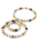 11-13mm Opera Length South Sea Multicolor Pearl Necklace -  AAAA Quality