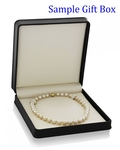 12-14mm Golden South Sea Oval Pearl Necklace - AAAA - Secondary Image