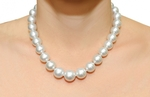 13-15mm White South Sea Pearl Necklace - Model Image