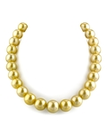 13-15mm Golden South Sea Pearl Necklace