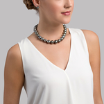 13-15mm Tahitian South Sea Pearl Necklace - Model Image