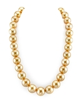 14-17mm Golden South Sea Pearl Necklace - AAA Quality
