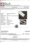 14-18.4mm White South Sea Pearl Necklace - Model Image