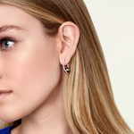 Tahitian South Sea Pearl & Diamond Eliza Earrings - Model Image