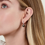 Tahitian South Sea Pearl Sally Earrings - Model Image