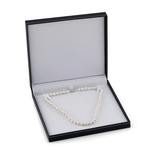 10-11mm White Freshwater Pearl & Diamond Adjustable Y-Shape Necklace- AAAA Quality - Fourth Image