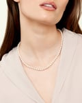 6.0-6.5mm Hanadama Akoya White Pearl Necklace - Model Image