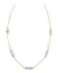 Japanese Akoya Pearl Tincup Tara Necklace - Third Image