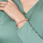 7-8mm Pink Freshwater Pearl Bracelet - AAAA Quality - Model Image