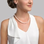 8-9mm White Freshwater Pearl Necklace - AAA Quality - Secondary Image