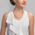 Hanadama Akoya White Pearl Triple Strand Necklace - Secondary Image