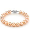 9-10mm Peach Freshwater Pearl Bracelet - AAA Quality
