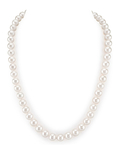 8-9mm White Freshwater Pearl Necklace - AAA Quality
