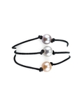 8mm Multicolor Freshwater Pearl Triple Strand Leather Bracelet