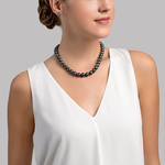 9-11mm Tahitian South Sea Pearl Necklace - AAA Quality - Secondary Image