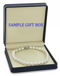 9-11mm White South Sea Pearl Necklace - AAAA Quality - Fourth Image
