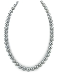 9-11mm Silver Tahitian South Sea Pearl Necklace - AAAA Quality