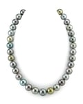 12-13.7mm Tahitian Multicolor Pearl Necklace - AAAA Quality