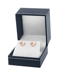 10mm Peach Freshwater Pearl Stud Earrings - Third Image