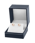 8mm Peach Freshwater Pearl Stud Earrings - Fourth Image