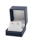 7mm Pink Freshwater Pearl Stud Earrings - Third Image