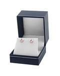 8mm Pink Freshwater Pearl Stud Earrings - Fourth Image