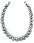 12-14mm Silver Tahitian South Sea Pearl Necklace - AAAA Quality
