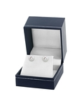 7mm White Freshwater Pearl Stud Earrings - Premiere Quality - Fourth Image