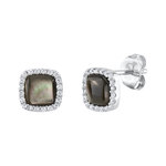 Black Mother of Pearl & Cubic Zirconia Eloise Earrings
