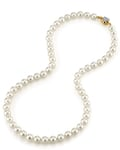 7.0-7.5mm Japanese Akoya White Choker Length Pearl Necklace- AA+ Quality - Third Image
