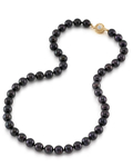8.5-9.0mm Japanese Akoya Black Pearl Necklace-AAA Quality - Third Image
