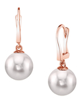 Japanese Akoya Pearl Classic Elegance Earrings - Secondary Image