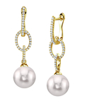 Akoya Pearl & Diamond Lucy Earrings - Model Image
