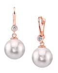 Akoya Pearl & Diamond Michelle Earrings- Choose Your Pearl Color - Third Image