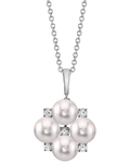 Japanese Akoya Pearl & Diamond Renee Pendant