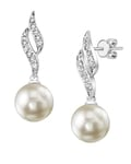 Akoya Pearl & Diamond Suzanna Earrings-Choose Your Pearl Color