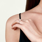 Akoya Pearl & Diamond Callie Ring - Model Image