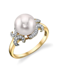 Akoya Pearl & Diamond Crown Jewel Ring - Third Image