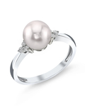 Akoya Pearl & Diamond Grace Ring