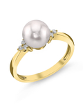 Akoya Pearl & Diamond Grace Ring - Model Image