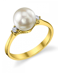 Akoya Pearl & Diamond Jordana Ring - Third Image