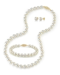 6.5-7.0mm Japanese Akoya White Pearl Set - Secondary Image