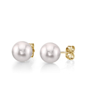 9.0-9.5mm White Akoya Pearl Stud Earrings - Third Image