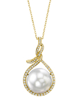 14mm South Sea Pearl & Diamond Agnes Pendant - Model Image