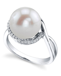 Freshwater Pearl & Diamond Summer Ring