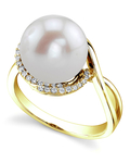 Freshwater Pearl & Diamond Summer Ring - Model Image
