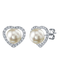 Freshwater Pearl & Diamond Amour Earrings